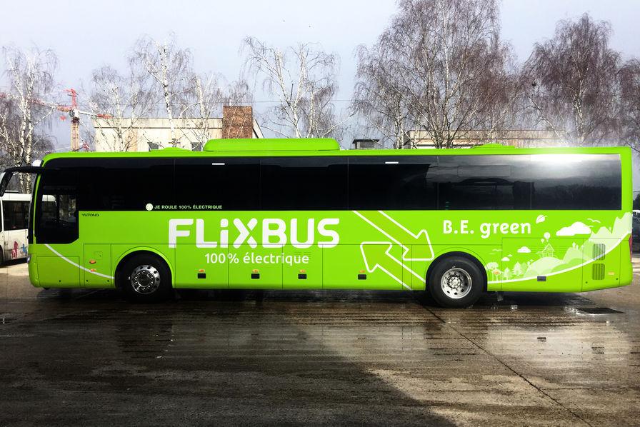 Flixbus va ouvrir la première ligne d'autocars longue distance 100% électriques entre Paris et Amiens