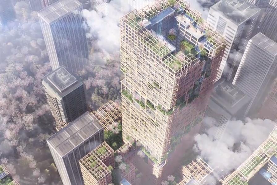 [L'industrie c'est fou] Un gratte-ciel fait à 90 % de bois et plus haut que la Tour Eiffel
