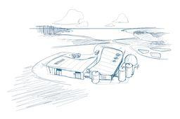 Croquis du centre de tri-valorisation de Suez Recyclage et Valorisation pour le Grand Narbonne