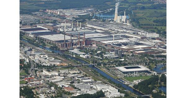 [Vu du ciel] Das Fabrik, l'usine Wolfsburg de Volkswagen