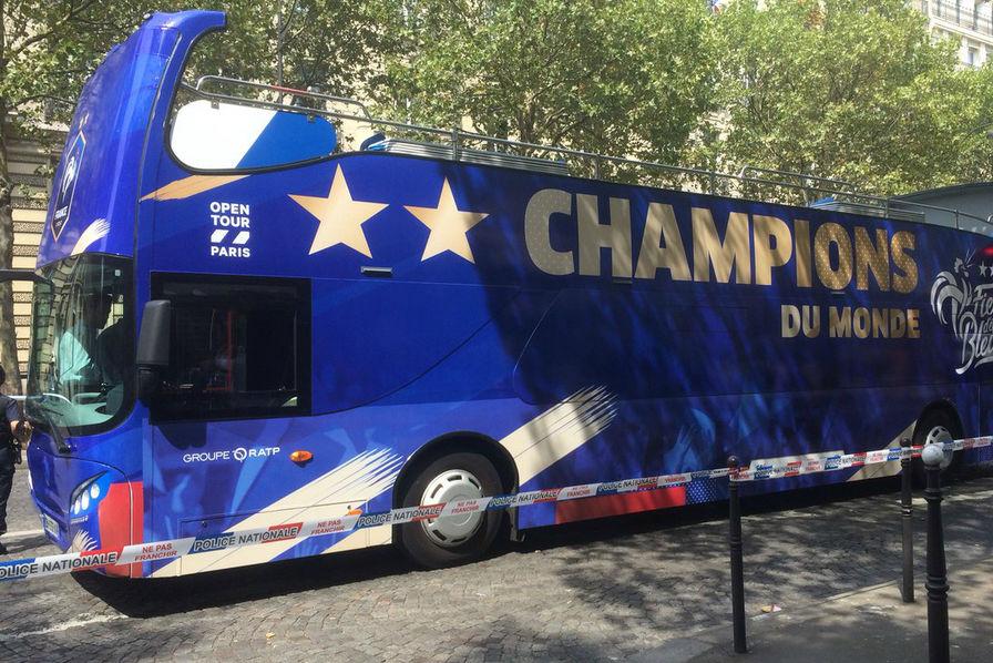 noel 2018 ratp Coupe du Monde 2018] Les Bleus ont paradé à bord d'un bus  noel 2018 ratp