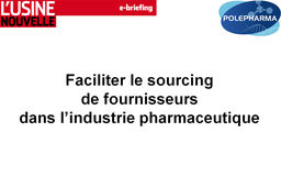 Faciliter le sourcing