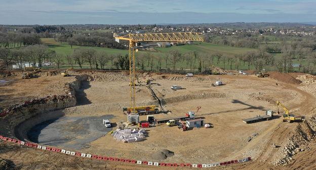 Coup d'envoi du chantier de construction d'une usine de méthanisation à Montbazens, dans l'Aveyron
