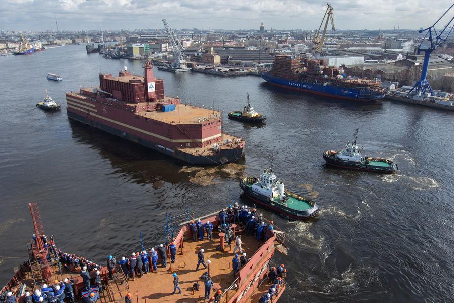 La Russie lance sa controversée centrale nucléaire flottante