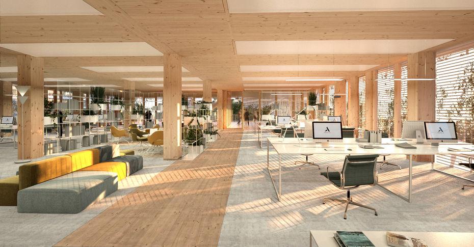 total d voile les trois projets s lectionn s pour son futur si ge social l 39 usine de l 39 energie. Black Bedroom Furniture Sets. Home Design Ideas