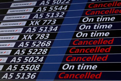 45% des long-courriers annulés, ce mardi — Grève Air France